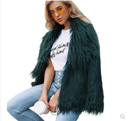 Women's imitation fur coat